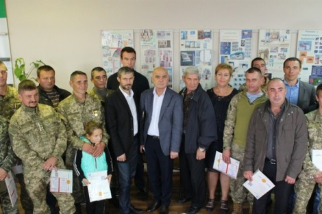 Zaporizhia's Graduates from Occupational Re-training Courses for ATO Veterans Presented with Diplomas