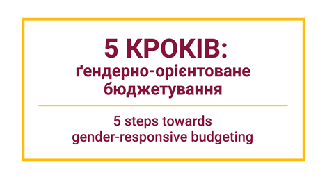 5 steps: gender budgeting as an effective instrument for crisis response